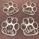 Customized Dog/Cat Paw Christmas Ornament