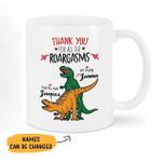 Personalized Dinosaur Couple Mugs