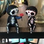 Cute Sugar Skull Couple Figure