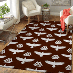 Viking Area Rug - Raven Valknut Pattern