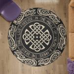 Viking Round Carpet -Valhalla Where The Brave Shall Live Forever