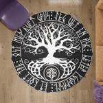 Viking Round Carpet - Yggdrasil - Tree of Life