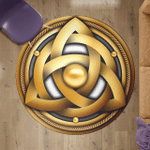 Viking Round Carpet - Trikvetr knot with circle Power of three viking