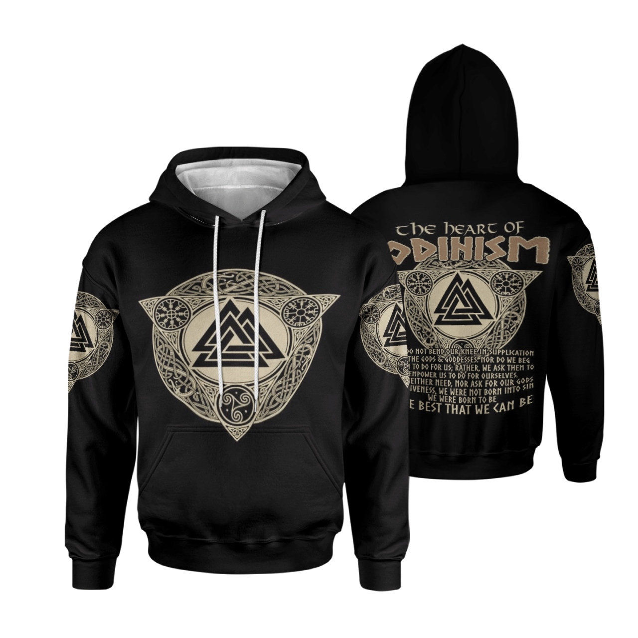 Viking Hoodie 3D - The Heart of ODINISM