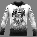 Viking Hoodie 3D - Odin Raven Valknut - Hammer