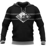 Viking Hoodie 3D - Hati and Skoll - Valknut - Shield