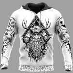 Viking Hoodie 3D - Odin Raven And Yggdrasil