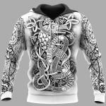 Viking Hoodie 3D - Viking Art - Jormungandr