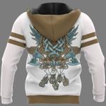 Viking Hoodie 3D - Wolf Graphic