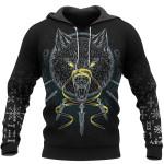 Viking Hoodie 3D - Wolf Fenrir - Odin