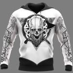 Viking Hoodie 3D - Warrior - Viking Symbol