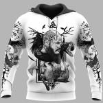 Viking Hoodie 3D - Wolf And Rune