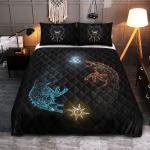 Viking Quilt Bedding Set - Sons Of Fenrir, Hati and Skoll