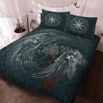 Viking Gear : Viking Quilt Bedding Set - Raven & Valknut