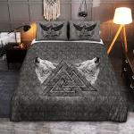 Viking Gear : Viking Quilt Bedding Set - Wolf Valknut