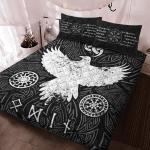 Viking Gear : Viking Quilt Bedding Set - Raven Vegvisir
