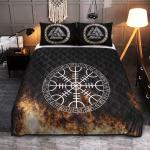 Viking Gear : Viking Quilt Bedding Set - Vegvisir On Fire