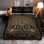 Viking Gear : Viking Quilt Bedding Set - Raven Yggdrasil