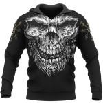 Viking Gear - Skull Vegvisir -  Viking Hoodie 3D