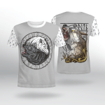 Viking Gear : Fenrir Yin Yang Wolf - Viking Shirt 3D