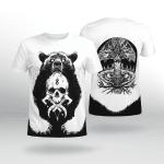 Viking Gear : Bear Claws And Yggdrasil - Viking Shirt 3D