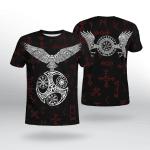 Viking Gear : Raven With Vegvisir - Viking Shirt 3D