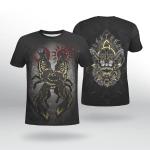Viking Gear : The Sons of Fenrir - Hati and Skoll - Viking Shirt 3D
