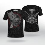 Viking Gear : Raven - Hammer - Spear Odin - Viking Shirt 3D