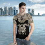 Viking Gear : Valknut Skull With Camo - Viking Shirt 3D