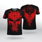 Viking Gear : Raven Vegvisir - Viking Shirt 3D