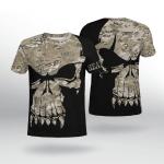 Viking Gear : Camo Skull Valknut - Heathen - Viking Shirt 3D