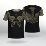 Viking Gear : Viking Camo Hammer Wolf - Viking Shirt 3D