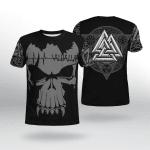 Viking Gear : Viking Valhalla - Valknut - Viking Shirt 3D