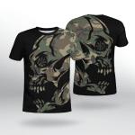 Viking Gear : Viking Camo Vegvisir - Viking Shirt 3D