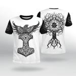 Viking Gear : Raven Hammer - Yggdrasil - Tree Of Life - Viking Shirt 3D