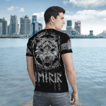 Viking Gear : Tree Of Life - Fenrir Wolf - Viking Shirt 3D