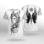 Viking Gear : Goddess Freya - Vegvisir - Viking Shirt 3D