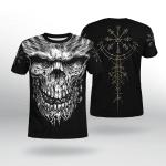 Viking Gear : Skull Vegvisir - Viking Shirt 3D