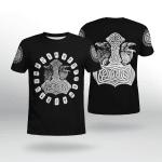 Viking Gear : Hammer Raven - Viking Shirt 3D