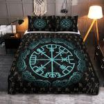 Viking Gear : Rune Vegvisir - Viking Quilt Bedding Set