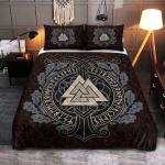 Viking Gear : Ship Valknut - Viking Quilt Bedding Set