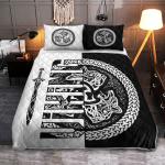 Viking Gear : Wolf symbol of a Viking - Viking Quilt Bedding Set