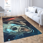 Viking Gear : Water and Fire Wolf - Viking Area Rug