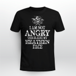 Viking Gear :  I Am Not Angry This Is Just My Heathen Face - Viking T-shirt