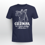 Viking Gear : Grumpa - Like a regular grandpa only grumpier - Viking T-shirt