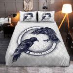 Raven Of Odin - Hugin And Munin - Viking Quilt Bedding Set