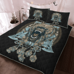 Viking Wolf With Axe - Viking Quilt Bedding Set
