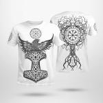 Raven - Hammer - Yggdrasil - Viking T-Shirts All-Over-Print