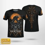 Raven - Valknut - Vegvisir - Viking T-Shirts Personalized