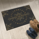 Rune And Vegvisir - Viking Doormat